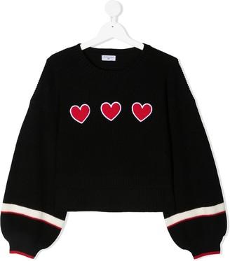 MonnaLisa Triple-Heart Knit Jumper