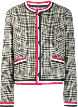 Thom Browne Check Pattern Button-Up Jacket