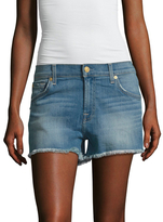 7 For All Mankind Distressed Cut-Off Denim Short