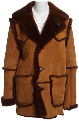 Coach Camel Shearling Coats