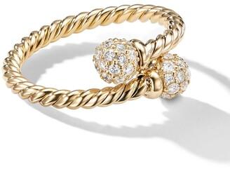 David Yurman 18kt yellow gold Solari Bypass diamond ring
