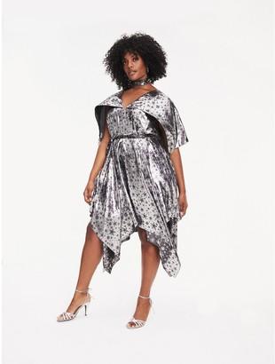 Tommy Hilfiger Zendaya Curve Metallic Silk Blend Dress