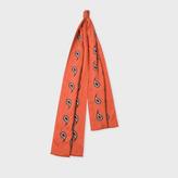 Paul Smith Men's Burnt Orange Paisley Jacquard Wool-Silk Scarf