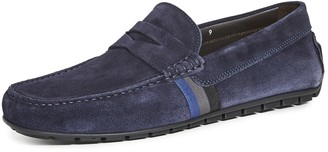 To Boot Ocean Drive Striped Suede Drivers