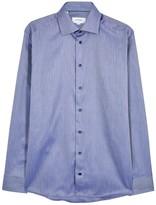 Eton Navy Slim Herringbone-jacquard Shirt