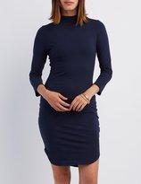 Charlotte Russe Mock Neck Bodycon Dress