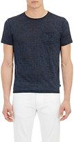 John Varvatos Men's Burnout Jersey T-Shirt-BLUE