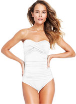 Anne Cole Twist-Front Bandeau One-Piece Swimsuit