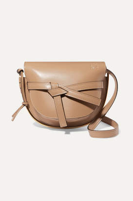 Loewe Gate Small Leather Shoulder Bag - Taupe
