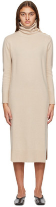 Max Mara Beige Wool Musa Turtleneck Dress
