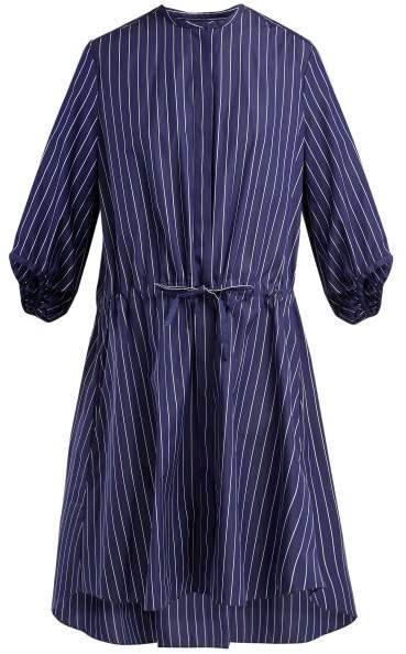 Maison Rabih Kayrouz Striped Cotton Poplin Shirtdress - Womens - Blue