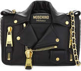 Moschino Biker jacket mini leather cross-body bag