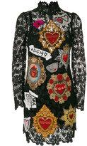 Dolce & Gabbana appliqué detail lace dress
