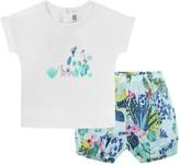 Catimini Baby Girls Jungle Top & Shorts Set