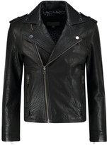 Calvin Klein Jeans Leather Jacket Black