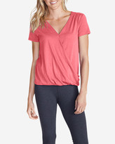 Eddie Bauer Women's Girl on The Go® Draped Cross Front Top