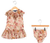 Ralph Lauren Girls' Floral Print Dress Set