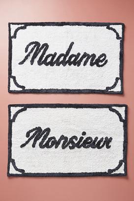 Anthropologie Monsieur & Madame Bath Mats, Set of 2 By in Black Size SET OF 2
