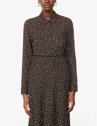 Samsoe & Samsoe Milly polka-dot print stretch-woven shirt