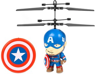 """World Tech Toys Marvel 3.5"""" Captain America Flying Figure IR Helicopter"""