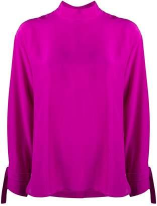 Jejia high collar silk blouse