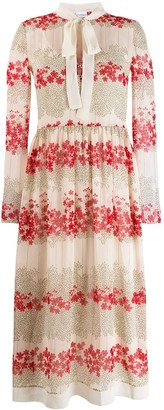 RED Valentino floral print shirt dress