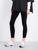 Brunello Cucinelli Embellished-detail stretch-wool leggings