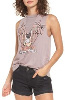 BP Women's Mesh Inset Graphic Muscle Tee