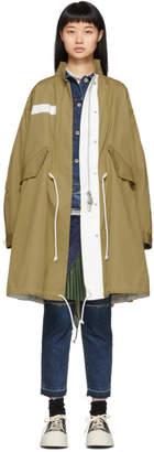 Sacai Beige Oxford Coat