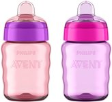 Avent Naturally My Easy Sippy - Girl - 9 oz - 2 ct