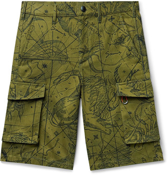 Givenchy Printed Cotton-Twill Cargo Shorts