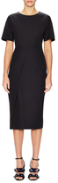 Jil Sander Cotton Dropped Shoulder Sheath Dress