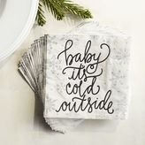Pier 1 Imports Baby Its Cold Outside Paper Cocktail Napkins