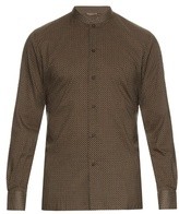 Bottega Veneta Vintage-print Cotton-poplin Shirt