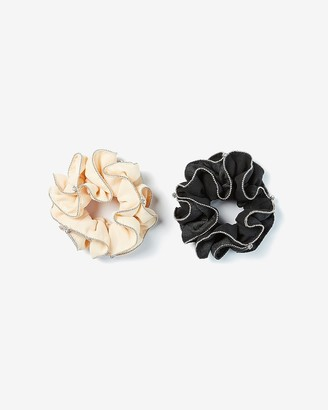 Express Set Of 2 Embellished Ruffle Ponytail Holders