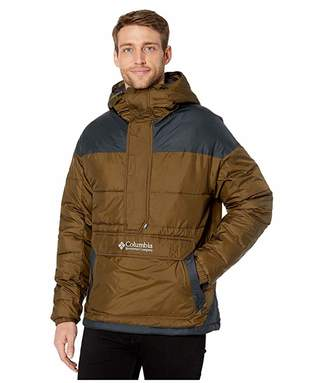 Columbia Lodgetm Pullover Jacket (Olive Green/Black Grey) Men's Coat