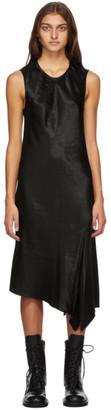 Ann Demeulemeester Black Satin Asymmetric Lambeth Dress