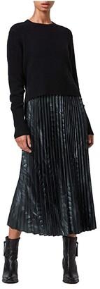 AllSaints Leowa Viola Dress (Black) Women's Dress