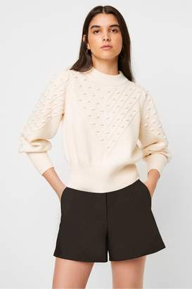 French Connection Cropped Bobble Balloon Sleeve Jumper