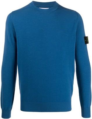 Stone Island Crew Neck Logo-Patch Sweater