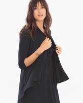 Soma Intimates Soft Jersey 3/4 Sleeve Open Wrap Black