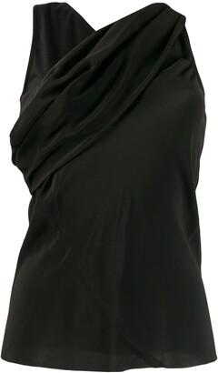 Rick Owens cross front blouse