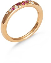 To The Moon & Back - 18Ct Gold, Diamond & Pink Sapphire Pave Ring
