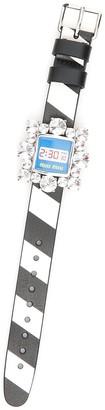 Miu Miu Crystal Watch Buckle Bracelet