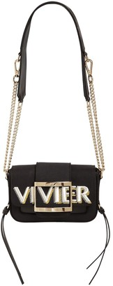 Roger Vivier MICRO TRES VIVIER CANVAS & LEATHER BAG