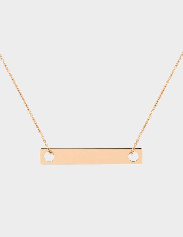 ginette_ny Mini Baguette 'Soiled Rotten' 18-karat rose gold necklace