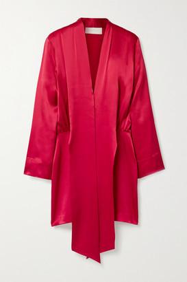 Mason by Michelle Mason Draped Silk-satin Mini Dress - Crimson