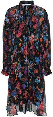 IRO Gathered Floral-print Silk-georgette Dress