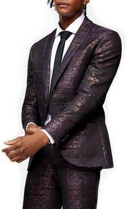 Topman Gascon Skinny Fit Jacquard Suit Jacket