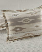Martha Stewart Collection Stonemeadow 100% Cotton Ikat Flannel Sham, Created for Macy's